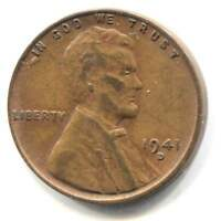 U.S. 1941 D LINCOLN WHEAT CENT - AMERICAN ONE CENT COIN - DENVER MINT