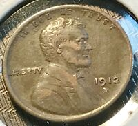 1912-D LINCOLN CENT  PROBLEM-FREE EXTRA FINE  LIST $70 CHN