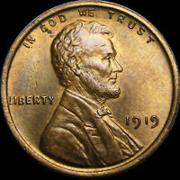 1919 LINCOLN CENT WHEAT CENT --- GEM BU CONDITION --- U193