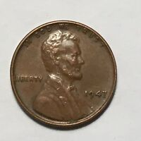 1947  LINCOLN WHEAT CENT PENNY   NICE AVERAGE CIRCULATED CONDITION 1947P