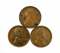LOT OF 3 1931 P 1C LINCOLN WHEAT CENT PENNIES AU / UNC UNCIRCULATED 118505