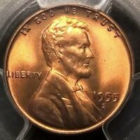 1955-S  LINCOLN CENT  PCGS MINT STATE 66RD