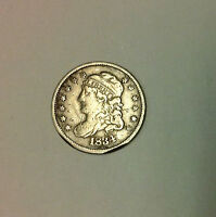 1834 CAPPED BUST SILVER HALF DIME.  GREAT TONE