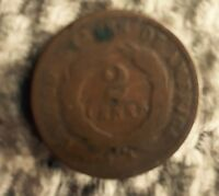 1864 LARGE MOTTO TWO CENT PIECE