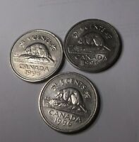 1996 NICKEL 5 CENTS LOT 3 COIN