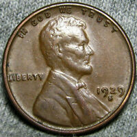 1929 S LINCOLN CENT WHEAT PENNY            X905