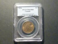 CANADA VICTORIAN LARGE CENT 1896 PCGS MS 63 RED BROWN
