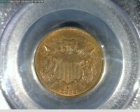 2C 1868 TWO CENT PIECE PCGS MINT STATE 64RB