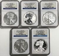 2011 ASE NGC 5 COIN 25TH ANNIVERSARY EARLY RELEASES SET