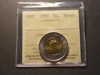 CANADA TWO DOLLARS 1998 BUSINESS STRIKE GRADED ICCS MS 65