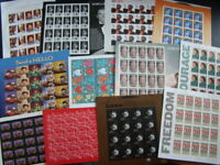 $215.00 FACE VALUE ALL MINT POSTAGE LOT SHEETS ETC.