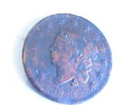 US CENT 1833 CORONET HEAD LARGE ONE CENT
