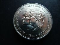 1981 CHARLES AND DIANA CROWN COIN PRINCE OF WALES WEDDING   CASE UK ANNIVERSARY