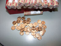 1975 P BU ROLL LINCOLN CENTS FROM OLD COLLECTION UN SEARCHED ROLL FROM MINT BAG