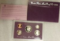 1993 PROOF SET DCAM MINT CONDITION BOX CASE COA & COINS  QUALITY SET COMB SHIP