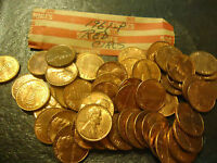 1961 P RED LINCOLN CENT ROLL      >>>     COMBINED SHIPPING UP TO 30 PAID ROLLS