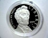 2009 LINCOLN SILVER PROOF COMMEMORATIVE DOLLAR ORIGINAL PACKAGING AND COA