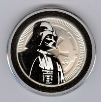 2017 1 OZ SILVER NEW ZEALAND $2 NIUE STAR WARS DARTH VADER COIN WITH CAPSULE