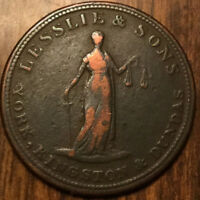 UPPER CANADA LESSLIE AND SONS HALF PENNY TOKEN