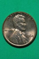 RED BU 1964 P LINCOLN MEMORIAL CENT EXACT COIN SHOWN FLAT RATE SHIPPING TOM03