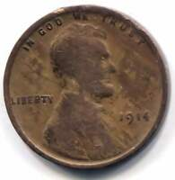 U.S. 1914 LINCOLN WHEAT CENT - AMERICAN ONE CENT COIN - PHILADELPHIA MINT