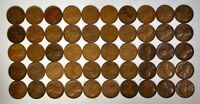 50 1919-D 1C LINCOLN WHEAT CENTS ROLL G-VF  K3649