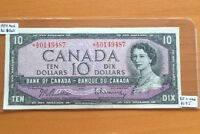BC 40BA BANK OF CANADA 1954 MODIFIED $10 REPLACEMENT EF   A/D