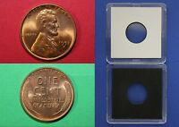 1951 D BU LINCOLN WHEAT CENT WITH 2X2 CASE FROM BANK ROLLS FLAT RATE SHIPPING