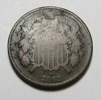 1868 TWO-CENT PIECE   COIN  POST CIVIL WAR COMBINED SHIPPING  LOT E12