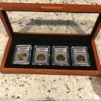 2007 D $1 ICG-SATIN FINISH 69 SATIN FINISH 4 COIN PRESIDENTIAL SET IN A DISPLAY CASE