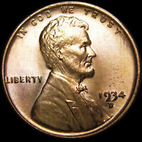 1934-D LINCOLN CENT WHEAT CENT  --- GEM BU CONDITION  --- I503