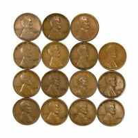 LOT OF 15 1933 P 1C LINCOLN WHEAT CENT PENNIES VF  FINE / VF 128239