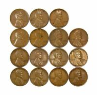 LOT OF 15 1933 P 1C LINCOLN WHEAT CENT PENNIES VF  FINE / VF 128238