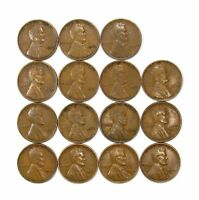 LOT OF 15 1933 P 1C LINCOLN WHEAT CENT PENNIES VF  FINE / VF 128237