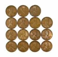 LOT OF 15 1933 P 1C LINCOLN WHEAT CENT PENNIES VF  FINE / VF 128236