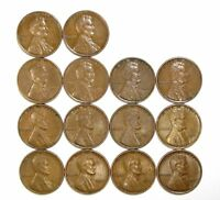 LOT OF 14 1931 P 1C LINCOLN WHEAT CENT PENNIES EXTRA FINE  EXTRA FINE / EXTRA FINE  128176