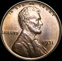 1931 LINCOLN CENT WHEAT CENT --- GM BU CONDITION --- I246
