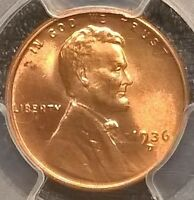1936-D LINCOLN CENT  PCGS MINT STATE 65RD   SHIPS FREE