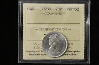 1965 CANADA. 25 CENTS. ICCS GRADED MS 65 .  XDS807