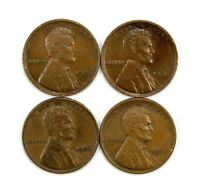 LOT OF 4 1926 P 1C LINCOLN WHEAT CENT PENNIES AU / UNC UNCIRCULATED 130758