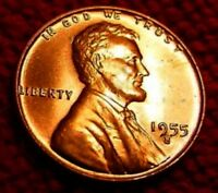 1955 S LINCOLN WHEAT CENT MS MINT STATE