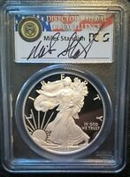 2008-W SILVER EAGLE PCGS PR70DCAM  SIGNED MILES STANDISH