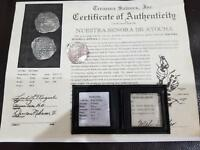 ATOCHA 1622 8 REALES 16XX GRADE 1 MEL FISHER COA SILVER PIRATE TREASURE COIN