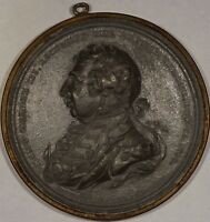 BHM 652 1809 KING GEORGE III JUBILEE WYON MEDAL LEAD 55MM