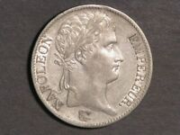 FRANCE 1811B 5 FRANCS NAPOLEON I SILVER CROWN XF AU