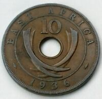 EAST AFRICA 10 CENTS 1936