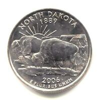 NORTH DAKOTA BUFFALO STATE QUARTER 2006 D COIN DENVER MINT