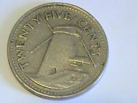 BARBADOS 1973 TWENTY FIVE CENTS 25