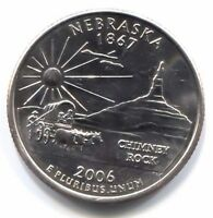 U.S. NEBRASKA CHIMNEY ROCK COMMEMORATIVE STATE QUARTER 2006 D COIN DENVER MINT