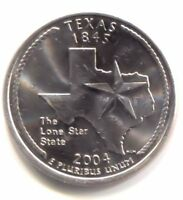 TEXAS THE LONE STAR STATE QUARTER 2004 D COIN   DENVER MINT